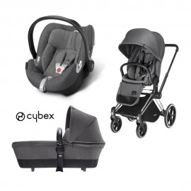 Cybex - Platinum Trio Priam Lux Light Aton Q Plus - Manhattan Grey